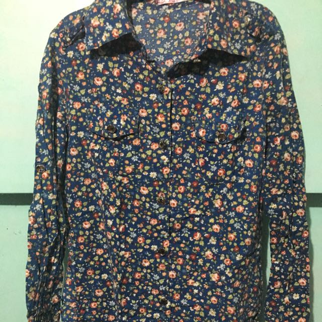 Floral Long Sleeved Button-down