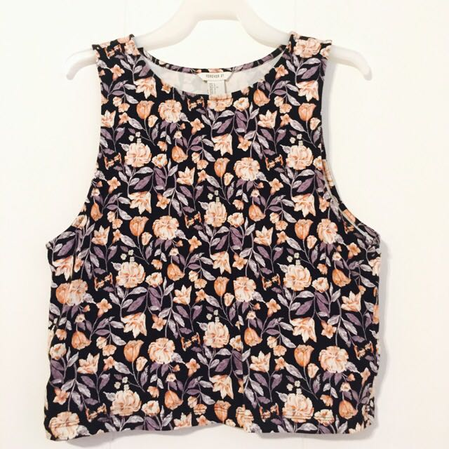 Forever 21 Floral Crop Top (Large)