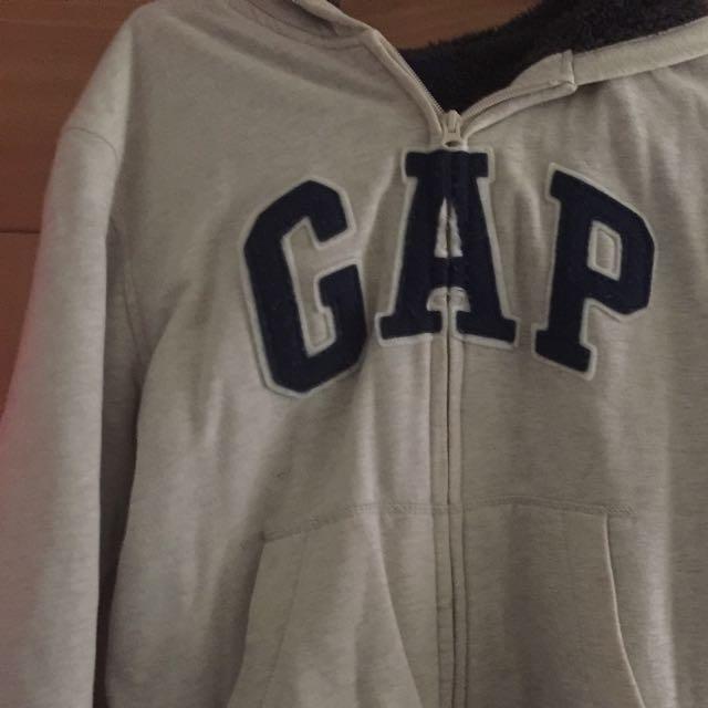 (含運)Gap灰米色厚外套