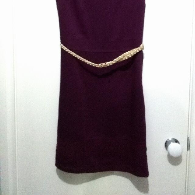 Gorgeous Plum Work Sleveless Dress