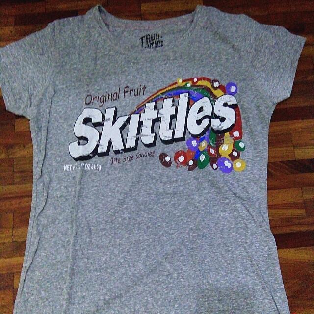 Grey Skittles Shirt (Vintage Style) - Ladies