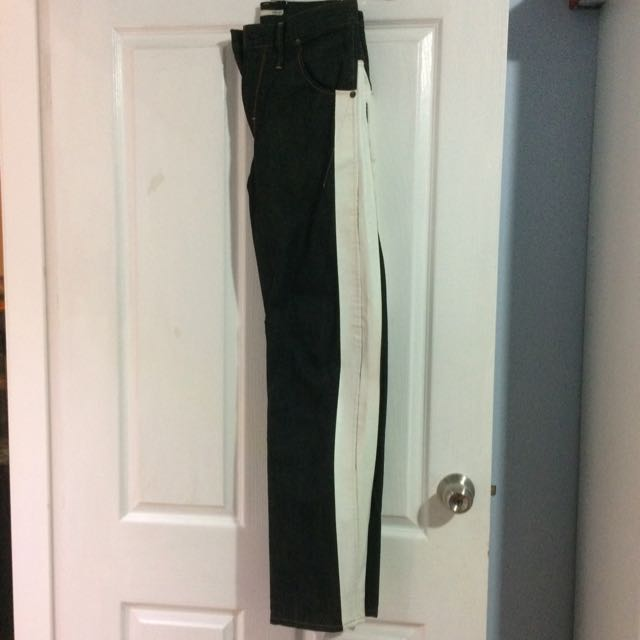 NEW G-Star RAW originals black jeans (with a white stripe on either side)