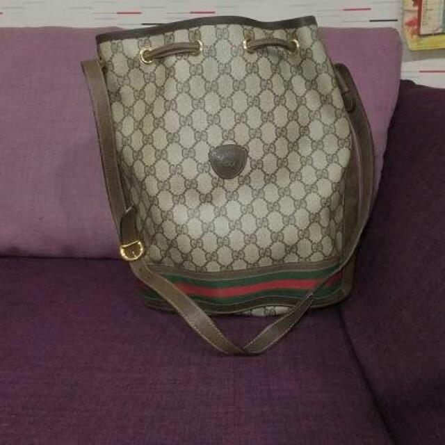 gucci絕版綠紅綠大水桶包,保證真品