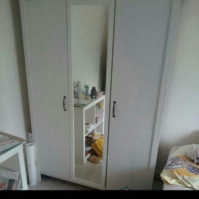Ikea Brusali Wardrobe 3 Doors Almari Baju Murah Quality Guarantee Home Furniture On Carou