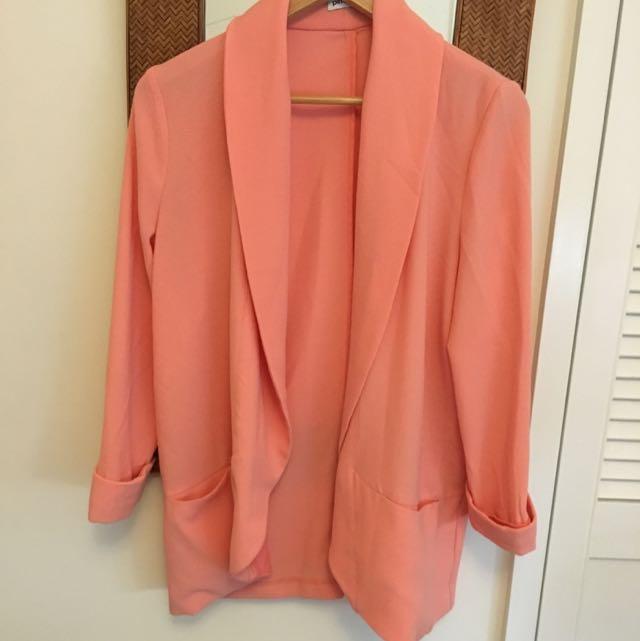 Jacket Blazer Salmon Colour