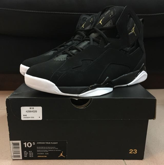 low priced 27cdc 6133e jordan true flight black with gold jordan Nike Shoes ...