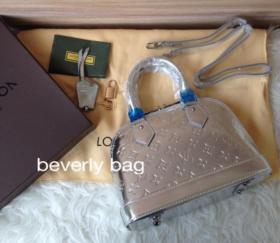 501bb3864f46 jual tas bag LV Alma Mini ORI LEATHER MIRROR - silver, Olshop ...