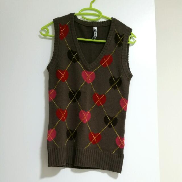 Just Jeans Woolen Heart Vest