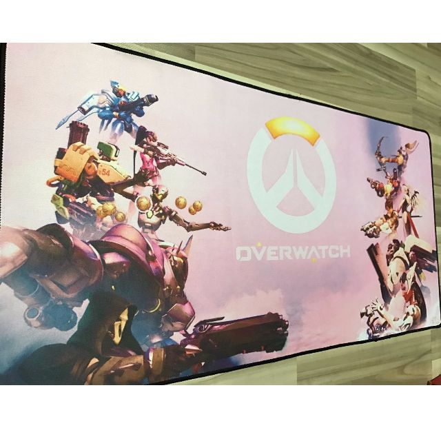 Large Gaming Mouse Pad Keyboard Pad 80 by 40cm! [Overwatch Design]