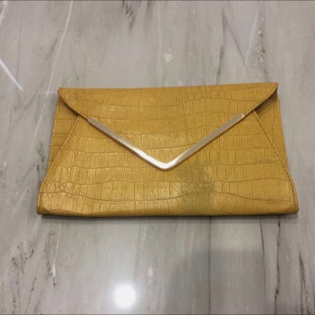 Large Mustard Clutch