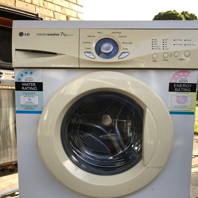 LG 7kg Front Loader Washing Machine