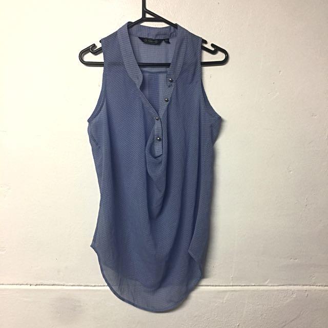 Light Blue Sheer Top