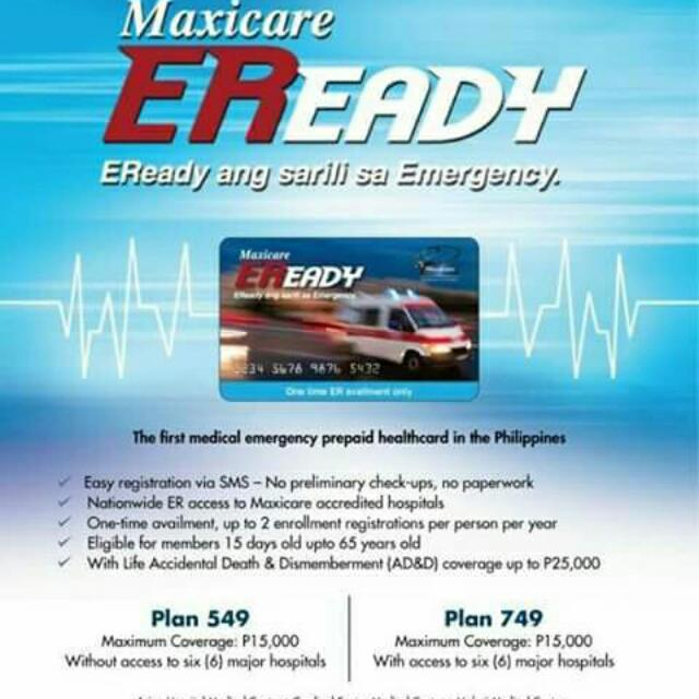 Maxicare Eready Health Prepaid Card