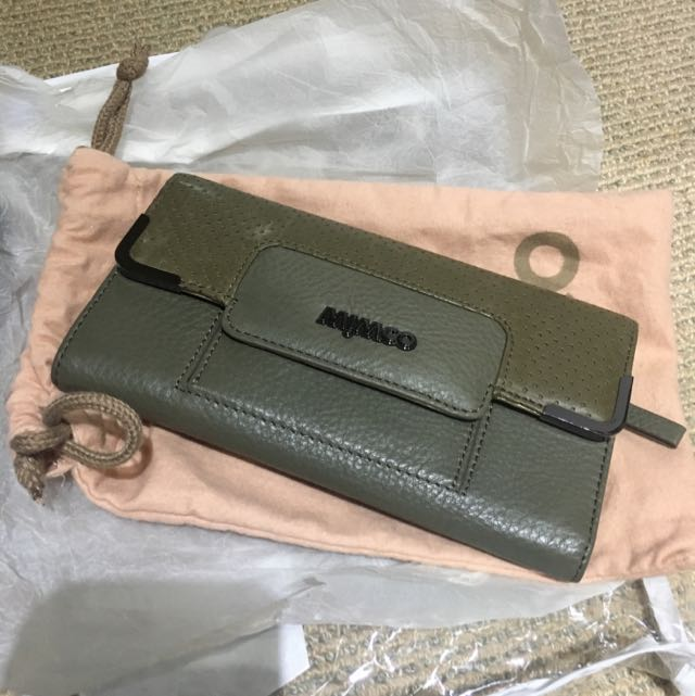 MIMCO Army Green Wallet Purse Incl Post