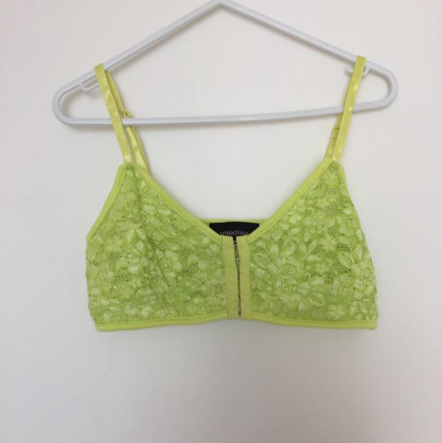 Minkpink Yellow Bralette Lace
