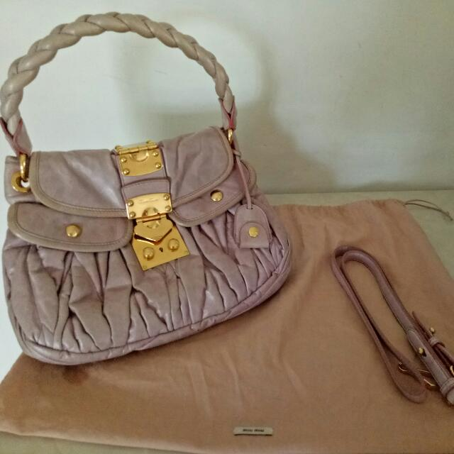 a31043724962 Authentic Miu Miu Coffer Bag (medium Size)
