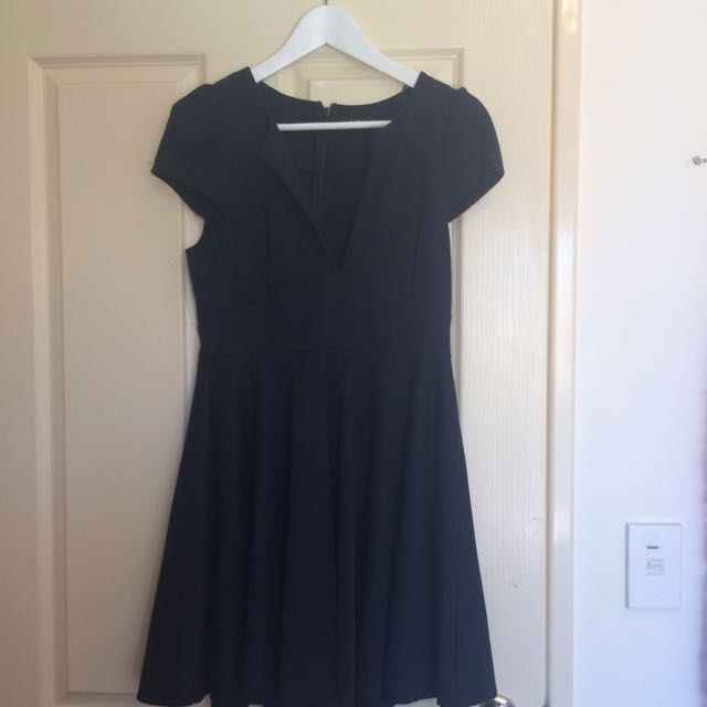 Navy Dotti Dress