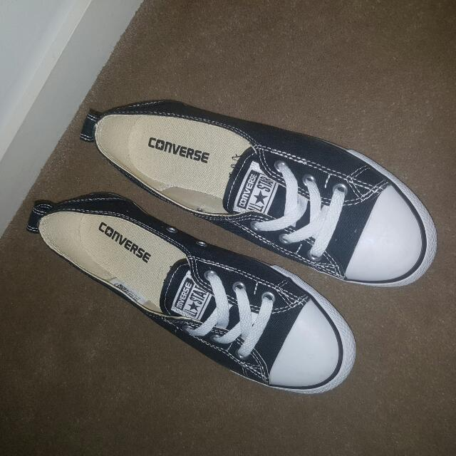 New- Navy Blue Ladies Converse All Star Casual Shoes