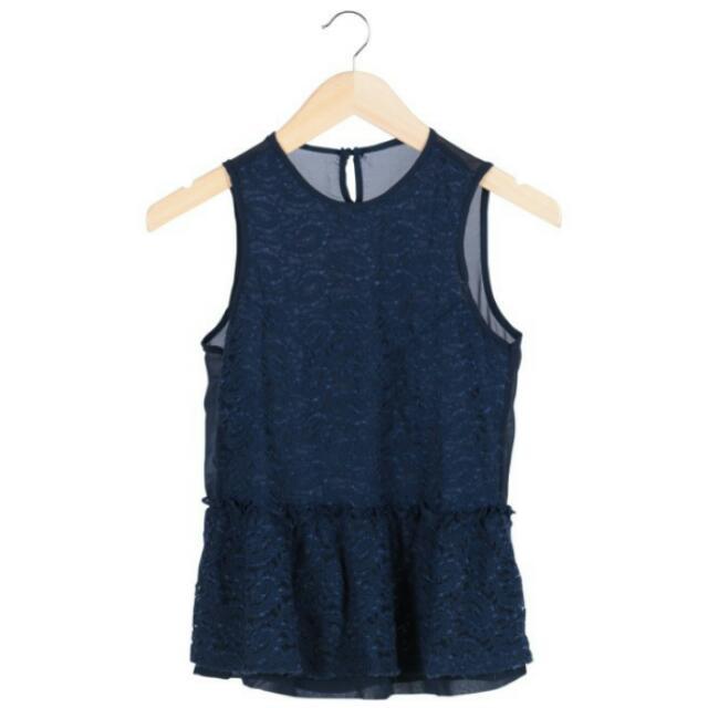 No Brand Blue Lace Sleeveless