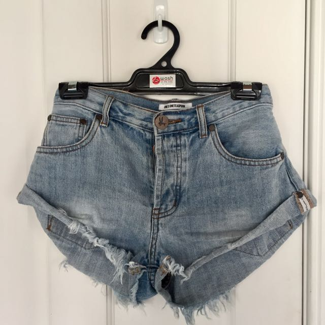 One Teaspoon Bandits Denim Cut-off Shorts