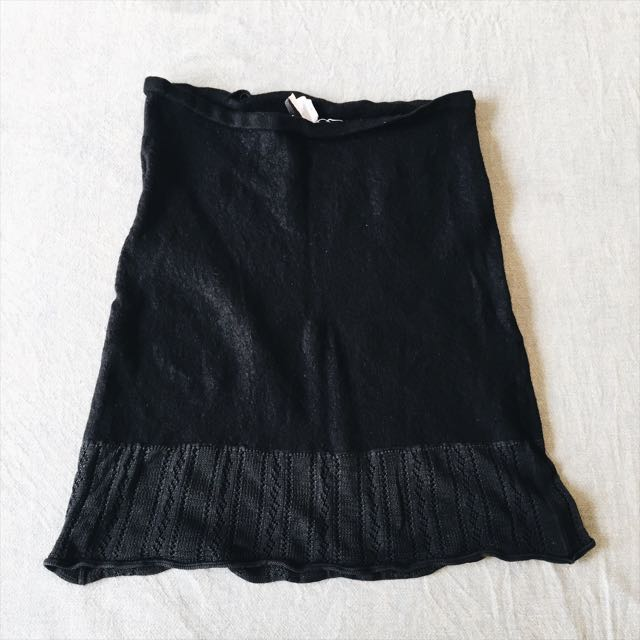 Original DKNY Black Knitted Skirt