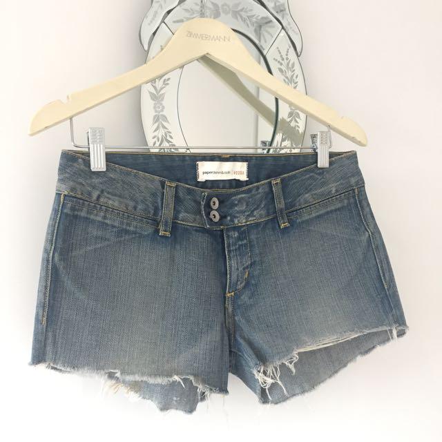 Paper Denim And Cloth Denim Shorts