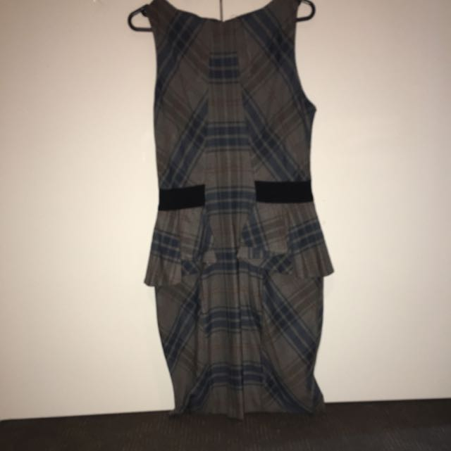 Peplum Check Dress by Cue