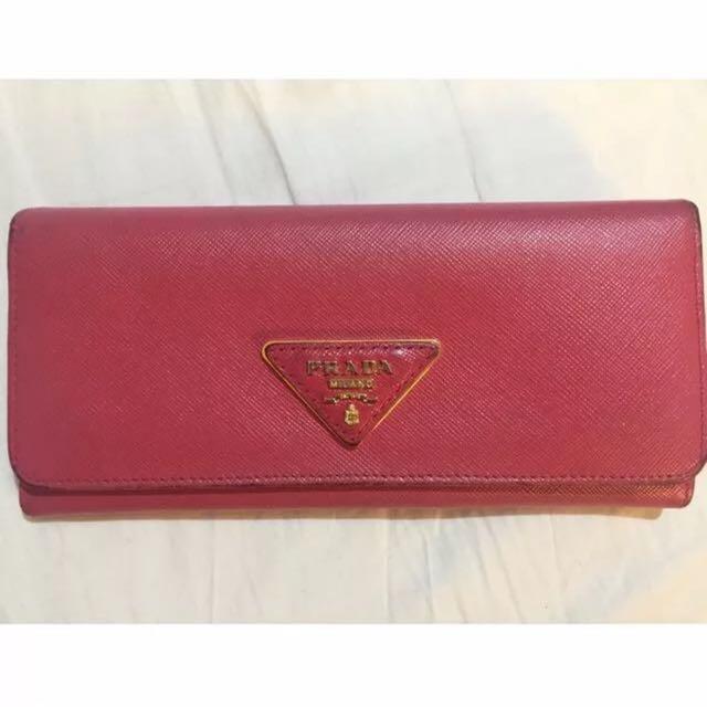 Prada Classic Long Wallet (Pink)
