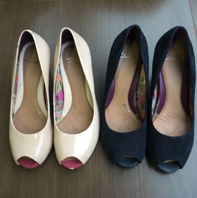 Preloved Clarks Shoes 2 In 1