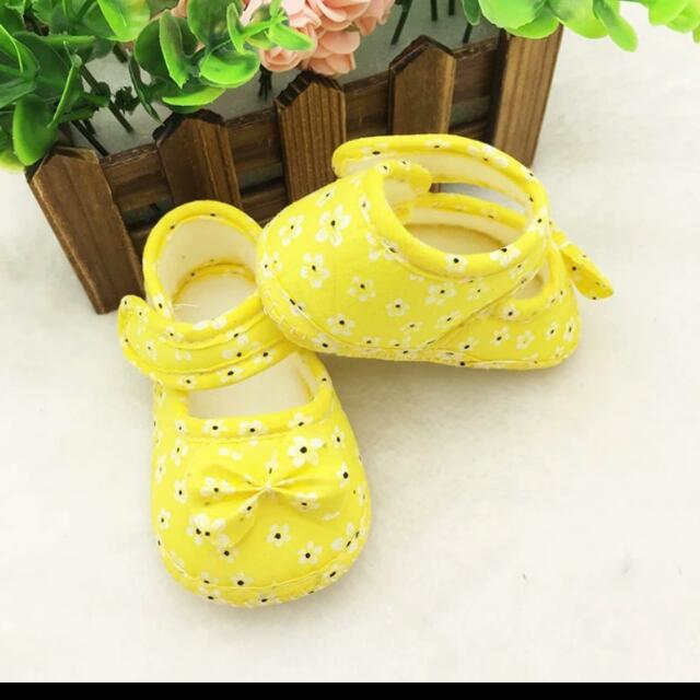 Pre-walker Yellow Shoes