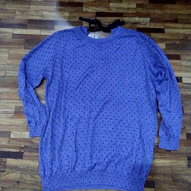 Purple Polka-Dotted Sweater