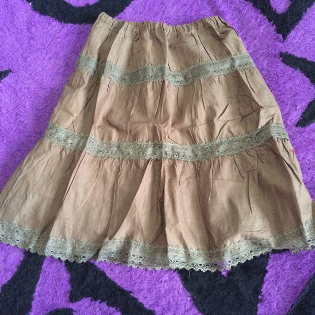Rok Skirt Hijau Army