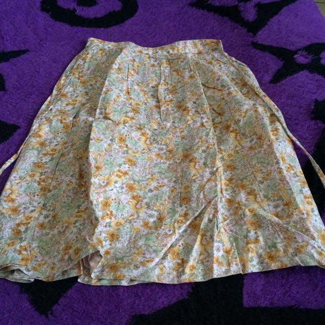Rok Skirt Vintage Flower