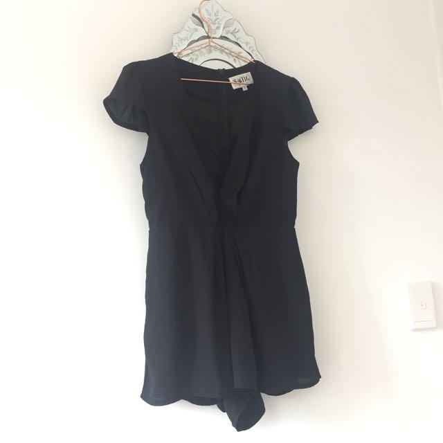 Sabo Skirt Black Playsuit