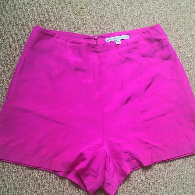 Silk Shorts - Sz S - Amanda Uprichard