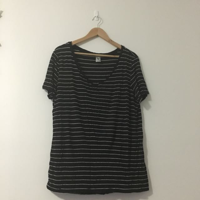 Size 14 Black And White Stripped Twe