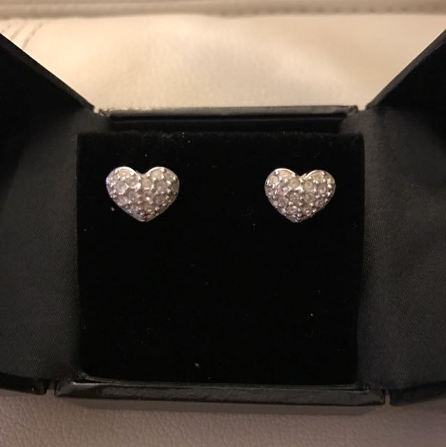 Swarovski Heart Earrings