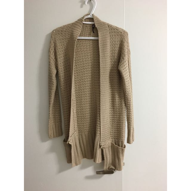 tan knit cardigan
