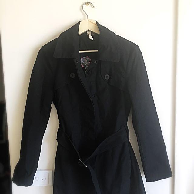 Ted Baker Black Ladies Trench Coat