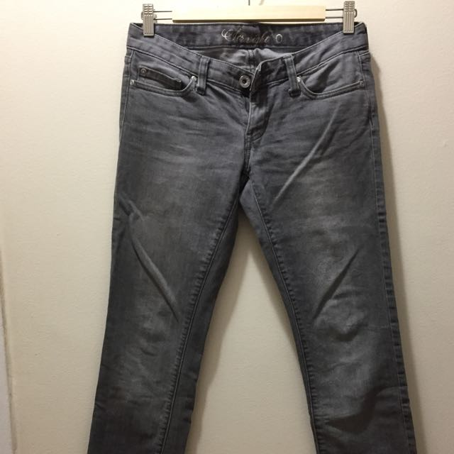 Tommy Hilfiger Grey Straight Cut Jeans Size 0