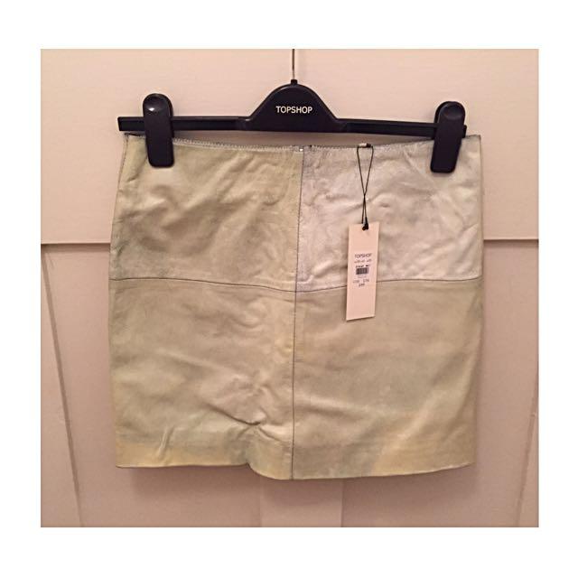 Topshop Genuine Leather Skirt