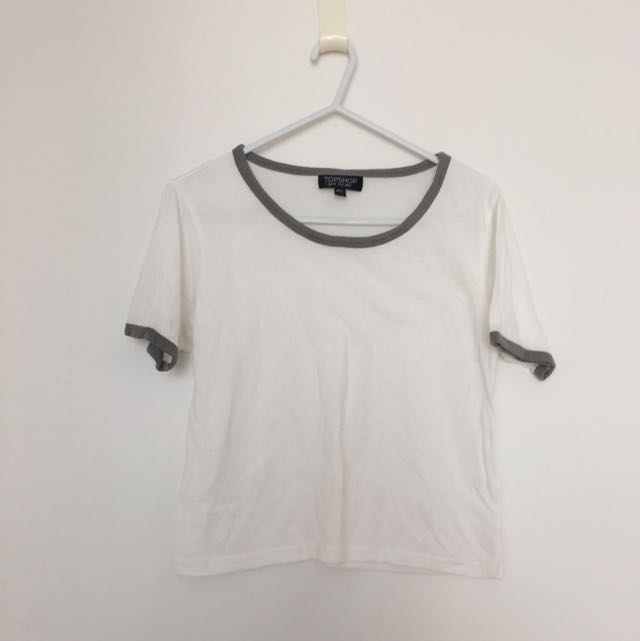 TOPSHOP White Cropped Tee