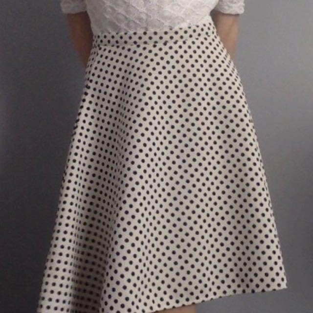 Vintage Tempt Polka Dot Skirt