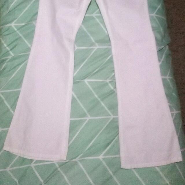 Mudd White Cotton Pants