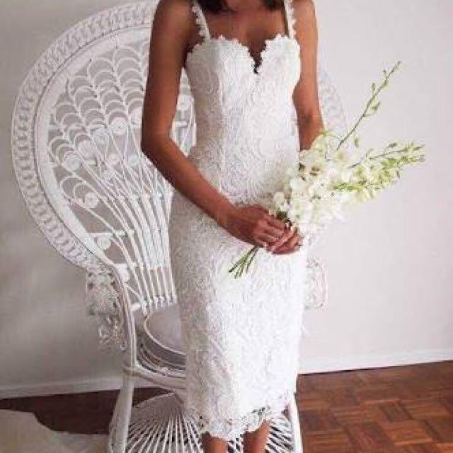 White Lace Dress Sz 8