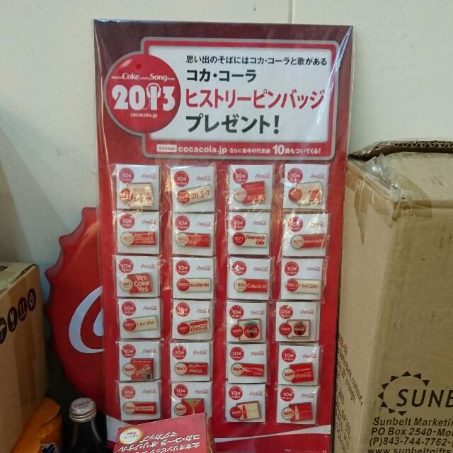 YUMO家 2013日本1962~2012年 胸針 全套24款 全新 可口可樂