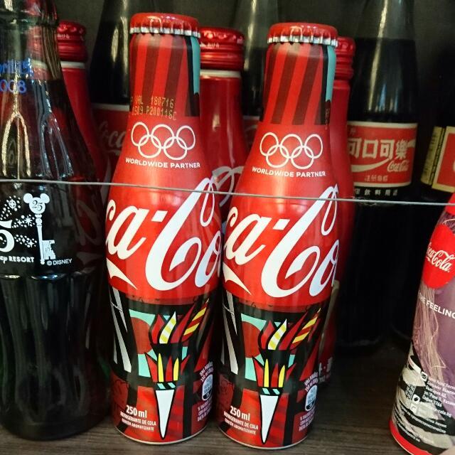 YUMO家 2016巴西里約奧運 紀念鋁瓶五環 可口可樂