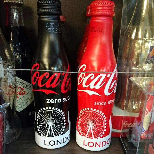 YUMO家 2016英國倫敦 魔天輪紀念原裝鋁瓶 可口可樂