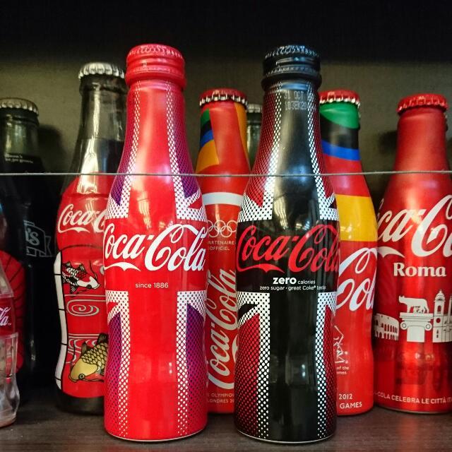 YUMO家 2016英國 國旗米字紀念鋁瓶 原裝滿瓶 可口可樂