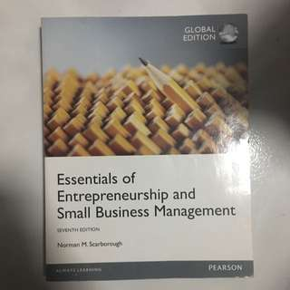 TR2201 Mint Condition Essentials Of Entrepreneurship And Small Business Management, Norman Scarborough